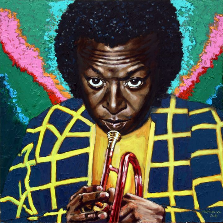 Miles Davis - Paintings by John Lautermilch