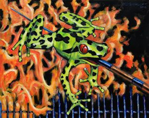 Bad Froggy in Hell - Paintings by John Lautermilch