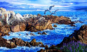 Flying High Over California - Paintings by John Lautermilch