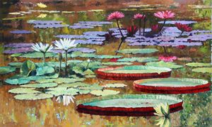 Colors on the Lily Pond - Paintings by John Lautermilch