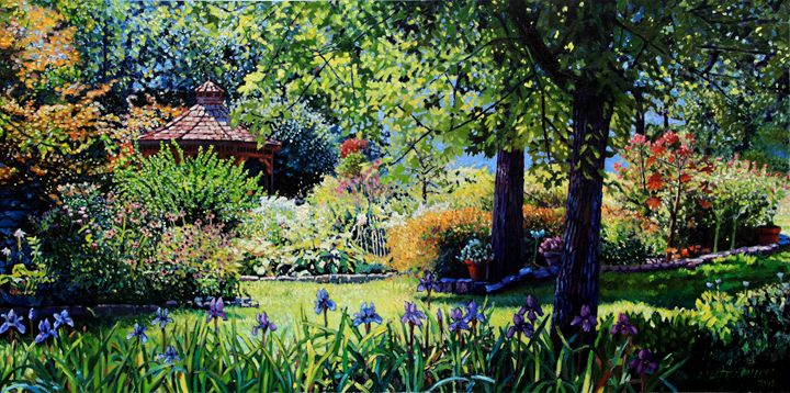 Home On Parish Drive - Oil - Paintings by John Lautermilch