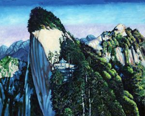 China's Mountains #1 - Paintings by John Lautermilch