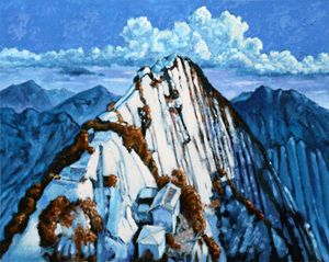 China's Mountains #2 - Paintings by John Lautermilch