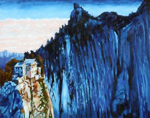 China's Mountains #3 - Paintings by John Lautermilch