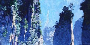 China's Mountains #4 - Paintings by John Lautermilch