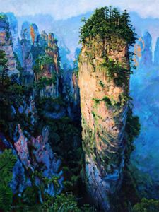 China's Mountains Five - Paintings by John Lautermilch