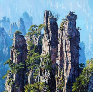 China's Mountains #6 - Paintings by John Lautermilch