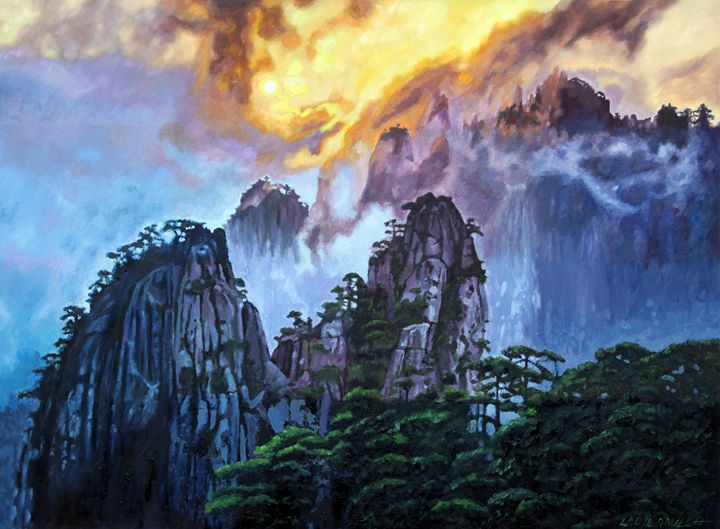 China's Mountains #7 - Paintings by John Lautermilch