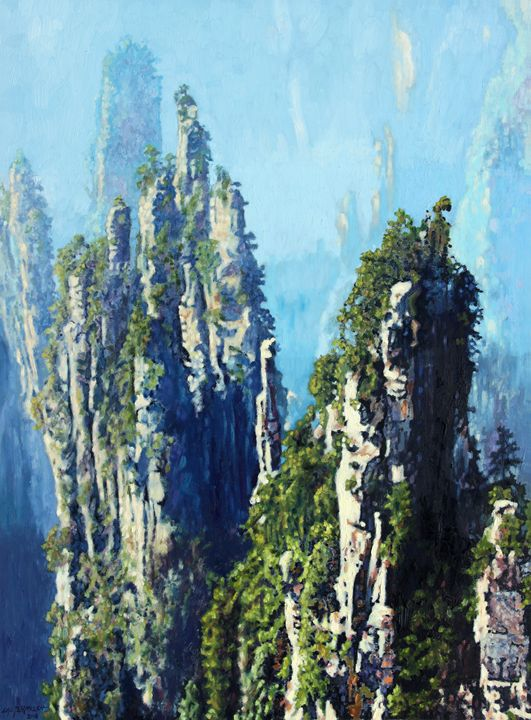 China's Mountains #8 - Paintings by John Lautermilch