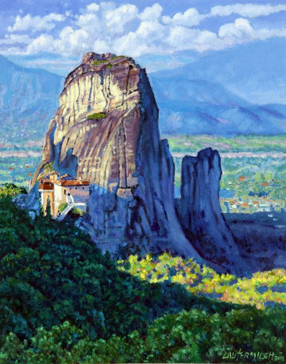 Mountains in Greece - Paintings by John Lautermilch