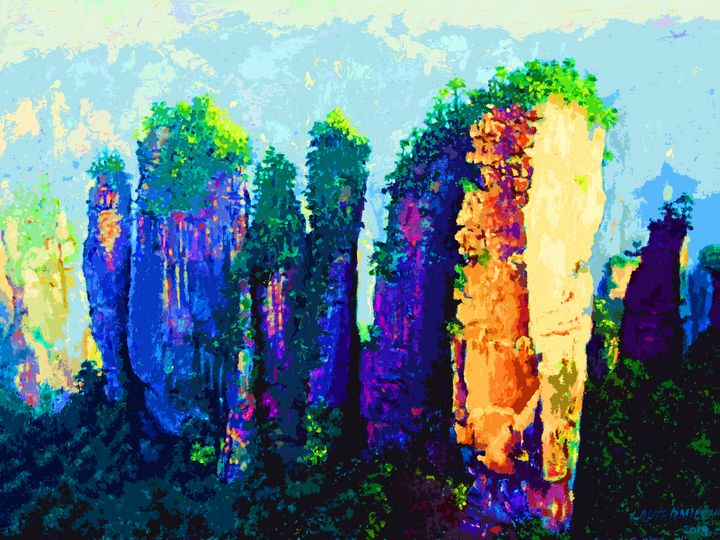China's Mountains 11C - Paintings by John Lautermilch