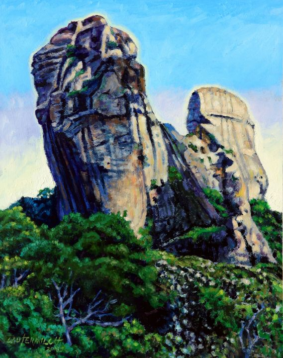 China's Mountains 12 - Paintings by John Lautermilch
