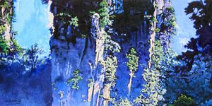 China's Mountains 13 - Paintings by John Lautermilch