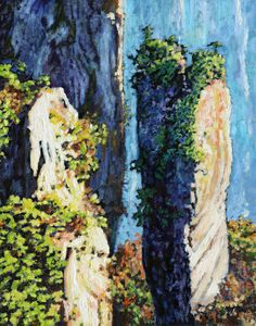 China's Mountains 14 - Paintings by John Lautermilch