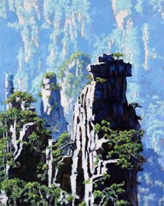 China's Mountains 15 - Paintings by John Lautermilch