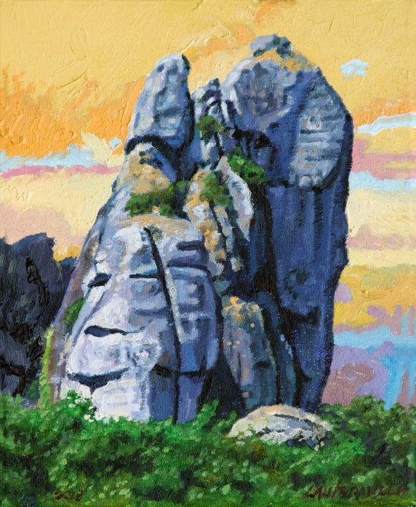 China's Mountains 16 - Paintings by John Lautermilch