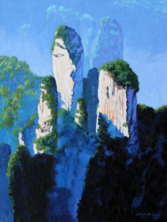 China's Mountains #17 - Paintings by John Lautermilch