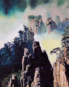 China's Mountains - 18 - Paintings by John Lautermilch