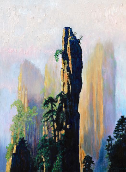 China's Mountains - 19 - Paintings by John Lautermilch
