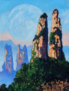 China's Mountains 20 - Paintings by John Lautermilch