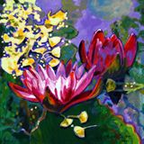 Leaf Patterns on the Lily Pond - Paintings by John Lautermilch