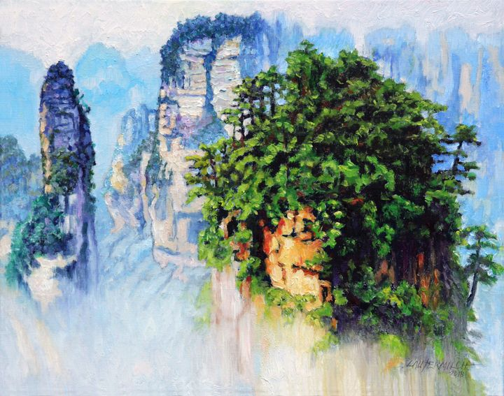 China's Mountains 21 - Paintings by John Lautermilch