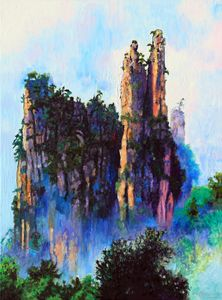 China's Mountains 22 - Paintings by John Lautermilch