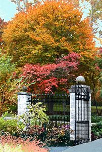 Garden Gate - Paintings by John Lautermilch