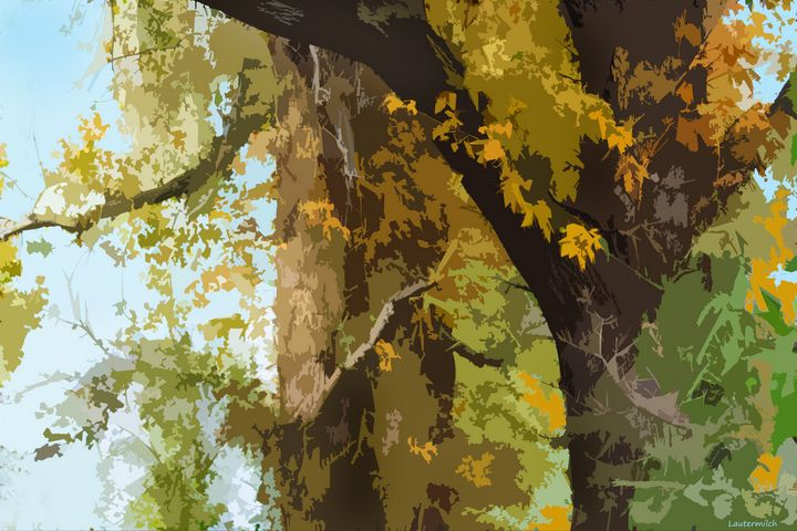 Autumn Trees 8 - Paintings by John Lautermilch