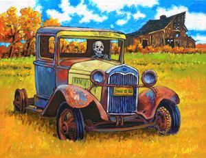 Getting Old - Time to Go - Paintings by John Lautermilch
