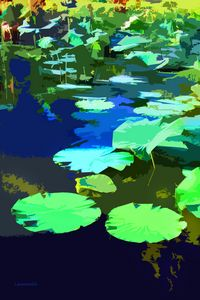 Patterns on the Pond - Paintings by John Lautermilch