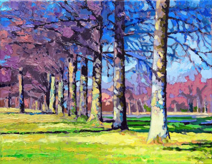 A Line of Pin Oaks - Paintings by John Lautermilch