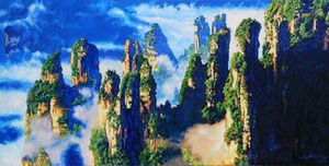 China's Mountains #23 - Paintings by John Lautermilch