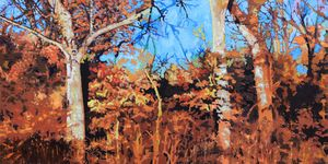 Winter Trees in Sunlight - Paintings by John Lautermilch