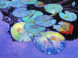 Lily Pad Composition - Paintings by John Lautermilch