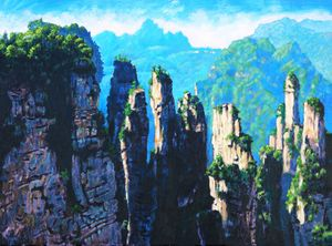China's Mountains - 25 - Paintings by John Lautermilch