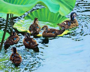 Mother Duck - Paintings by John Lautermilch