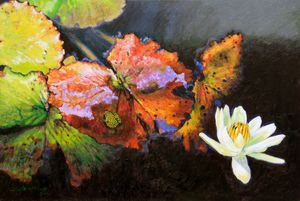 Autumn Blooms - Paintings by John Lautermilch