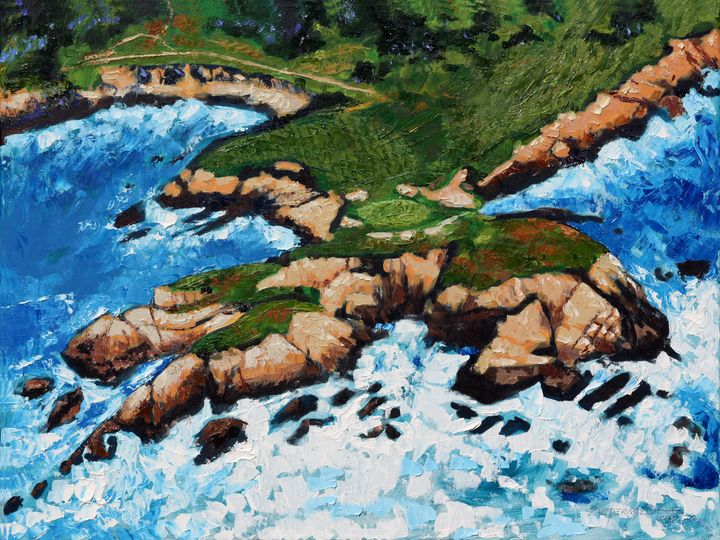 Golf On The Gulf - Paintings by John Lautermilch