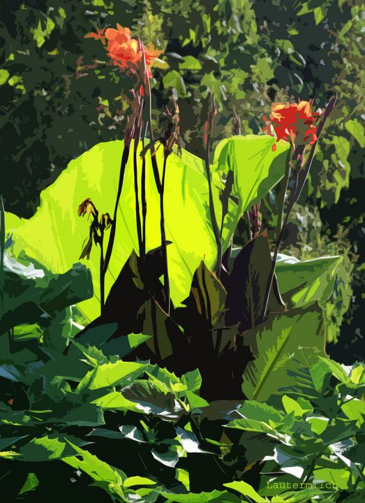 Flowers at Tower Grove Park - Paintings by John Lautermilch