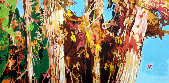 Autumn Amongst the Cottonwoods - Paintings by John Lautermilch