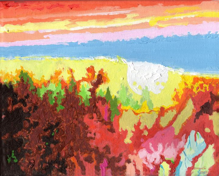The World's on Fire - Paintings by John Lautermilch