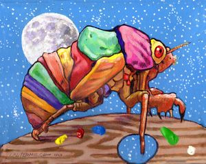 Cicadas Shell Palette - Paintings by John Lautermilch