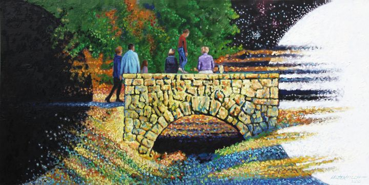 Bridge Into The Light - Paintings by John Lautermilch