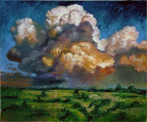 Clouds Over the Prairie - Paintings by John Lautermilch