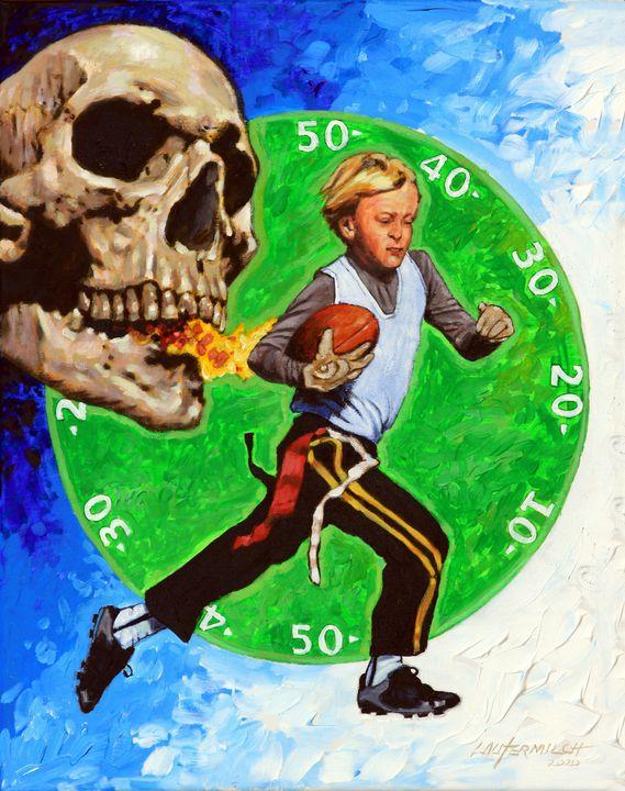 Run Johnny Run - Paintings by John Lautermilch