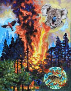 Australia On Fire - Paintings by John Lautermilch