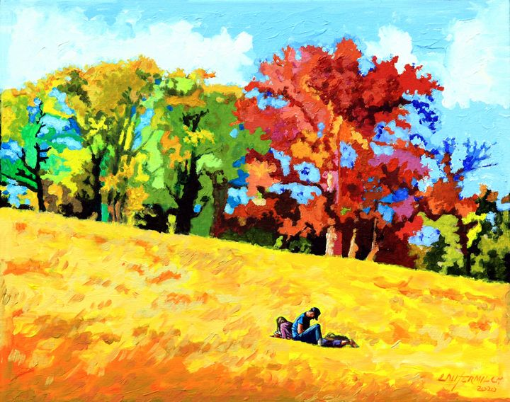 Quiet Time on Art Hill - Paintings by John Lautermilch