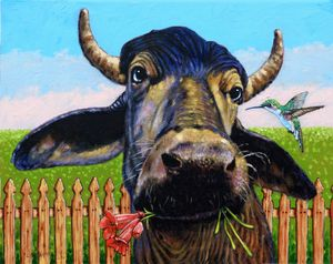 Stop Eating My Food - Paintings by John Lautermilch