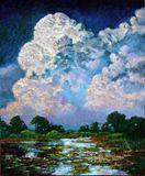 Billowing Clouds - Paintings by John Lautermilch